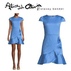 """Alice + Olivia """"Kirby"""" ruffled flounce dress 4"""
